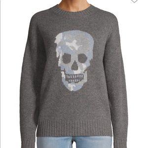 Skull cashmere blue skull sweater